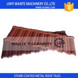 Azulejo de material para techos de acero de aluminio revestido de la piedra colorida de la promesa de la calidad