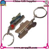 Corrente chave de aço inoxidável com logotipos da cópia