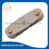 Clip de cuivre de bande de C.C de couvercle d'oscillation de brides d'obligations mettant à la terre la bride au sol