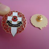 Poppy Flower Design BadgeのエナメルLapel Badge