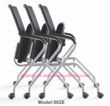 Cadeira de dobramento do treinamento do metal moderno da reunião do engranzamento do escritório (E802-2)