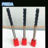 Fraises en bout extra-longues de grand dos de longueur de cannelures du carbure de tungstène 4