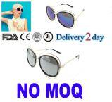 2016 lunettes de soleil rondes neuves de dames en métal en verre de Sun de femmes de cru de mode rétro