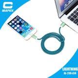 OEM 1m 직물 iPhone5를 위한 땋는 USB 데이터 충전기 케이블