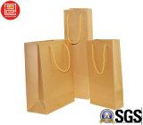 Sacchetto naturale della carta kraft, Sacchetti di acquisto, sacchetto di elemento portante in bianco del Kraft
