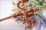 Золотистый держатель для свечи 5 плакатов стеклянный для украшения венчания