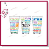 16oz Sublimation Pint Glass Mug White Patch