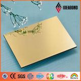 Painel composto de alumínio do espelho da prata do ouro do preço do competidor de Ideabond