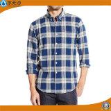 Chemise occasionnelle de longue robe de la chemise de 2016 hommes faits sur commande