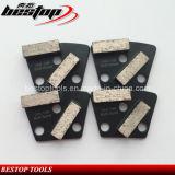 Plaat van de Kwaliteit van de premie de Concrete Malende met Dubbele Segmenten 40X12X12mm