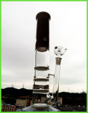 Ice Notches를 가진 새로운 Coming Jade Triple 2 Layers Honeycomb Disc Percolate Glass Smoking Water Pipe