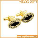 Qualitäts-ovaler Manschettenknopf mit dem Gold überzogen (YB-r-026)