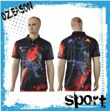 All Over Sublimaiton Printed Polyester Mesh Polo T Shirts (P012)