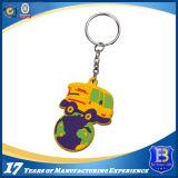 3D 숫자 고무 PVC Keychain