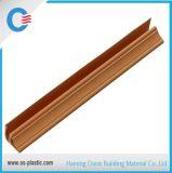 A instalação do PVC perfila o canto superior 5.8m 5.95m longos