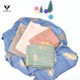 Blatt-Folien-Druck-länglicher Baumwollleinen-Schal der Qualitäts-Frauen