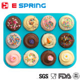 12 Cup runde Form-Silikon-Muffin-Backen-Form-Kuchen-Wannen-