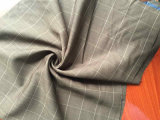 Ткань шерстей проверки Brown шерстяная