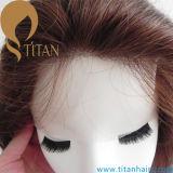 Fermeture de face de lacet indien de cheveux humains pour les femmes féminins élégants