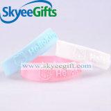 Bracelet gravé en relief chaud de Siliocne pour les cadeaux promotionnels