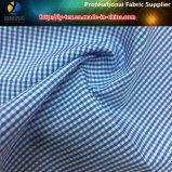 偶然のワイシャツのためのSlallowのGirdポリエステルまたは綿の糸の染められたファブリック
