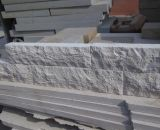 Sandstone branco, corte visto, afiado, assoalho, telhas, pedra de pavimentação