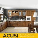 L al por mayor muebles de la cocina de la cabina de cocina de madera sólida del armario del estilo (ACS2-W03)