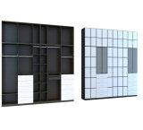 Guardaroba bianco moderno della camera da letto della melammina del Palo 2016