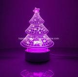 Chirstmasの木のホーム装飾の電気スタンド3Dの錯覚LED夜ライト