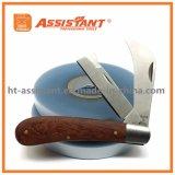 Couteau à couteaux à rayures à double extrémité pour pépinière pour plantes greffées