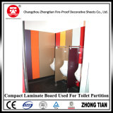 Tarjeta laminada compacta para la cabina pública del armario
