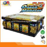 Máquinas de juego de los trastos de los pescados de la fortuna de la rueda de lotería del casino con los validadores del efectivo