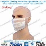 Nonwoven estéril mascarillas de partículas médicas del respirador y del procedimiento de 3 capas con el lazo en Qk-FM009
