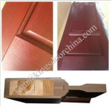 Portas decorativas interiores do banheiro do PVC com frame