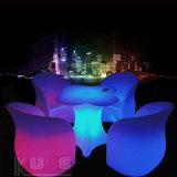 판매를 위한 방수 LED 가구 LED 꽃 의자를 바꾸는 무선 색깔