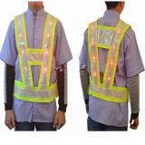 Veste de trabalho da segurança do tráfego com bulbos do diodo emissor de luz