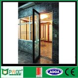 Puerta de aluminio revestida del marco del polvo con el vidrio Pnoc0034cmd