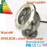 Punkt-Unterwasserlicht der Niederspannungs-12V heller des Edelstahl-IP68 6W LED