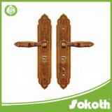 Экстерьер оборудования двери сплава цинка шипучки Sokoth профессиональный и нутряная большая покрынная ручка двери на большой плите