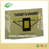 Etiqueta engomada transparente impresa aduana, escrituras de la etiqueta de alertas que expiden (CKT-LA-404)