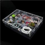 Plateau acrylique clair fait sur commande d'étalage de bijou