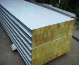 El panel de emparedado de la PU de la roca Wool/EPS/del espesor barato de 50mm-200m m