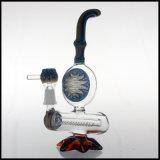 Hfy neues Glasglas-rauchendes Wasser verbog Anlage-Rohr 9.25 Zoll der Anlage-Öl KLEKS, der mit Inline-Perc KLEKS Wachs bunt ist
