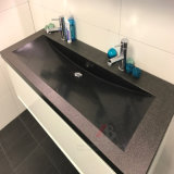 Évier simple et double et lavabo en granit noir naturel