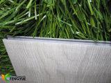 Klikt het Maagdelijke Materiële Grijze Houten Vinyl van 100% de Vloer van pvc van het Systeem