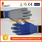 Ddsafety 2017 Nylon-Polyester-Zwischenlage PU-überzogener Handschuh auf Palme und Fingern