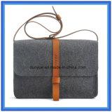 Personalizzato fare il sacchetto casuale del messaggero del Tote ritenuto lane ecologiche, sacchetto di spalla caldo di acquisto del regalo di promozione