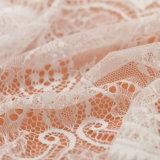 Tessuto spesso del merletto del fiore di disegno della tessile del tessuto francese unico del merletto