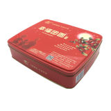 Big Size Red Color Food Tin Box Embalagem Box Atacado