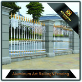 Privacidade garantida de qualidade Cerca de jardim de alumínio para alta sequenciação